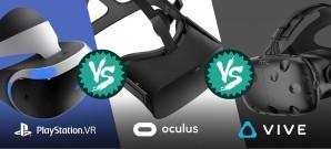 Wie schlägt sich PlayStation VR gegen Oculus Rift und HTC Vive? Wir vergleichen alle drei Systeme.