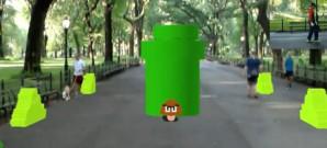 Der erste Level von Super Mario Brothers mit Augmented Reality