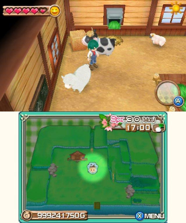 Screenshot - Harvest Moon 3D: A New Beginning (3DS)