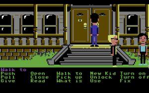 ...und 1987 geschah Gewaltiges: Während der Spieler den Nonsens erknobelte, entdeckte das Spiel die Architektur für sich. Maniac Mansion begeisterte mit ersten Tiefenwirkungen und Texturanstrichen am Rande der Realität...