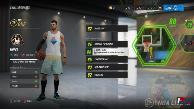 """Der Spielmodus """"The One"""" wurde an den richtigen Stellen optimiert und macht mit seinen unterschiedlichen Ausrichtungen (Liga, Streetball, Online, Court Battles) einen Heidenspaß."""