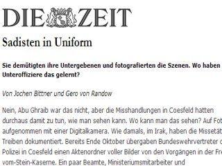...am 2. Dezember 2004 selbst die ZEIT auf die Spitze trieb. Sadistische Unteroffiziere seien u.a.