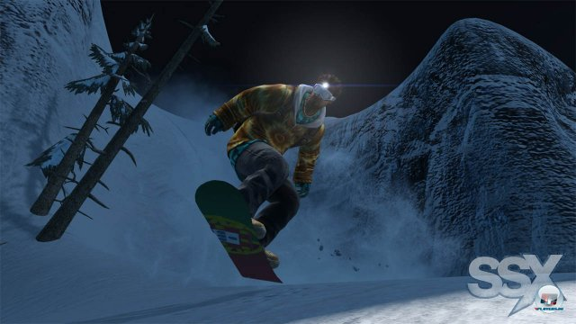 Egal ob Tag oder Nacht: Die SSX-Crew ist allzeit bereit.