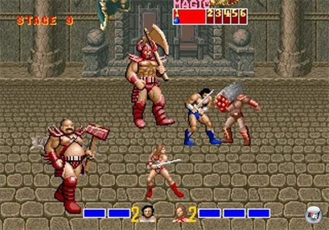 Dass das Hack-n-Slay ein Ableger des Beat-em-Up-Genres ist, merkt man auch an Spielen wie Golden Axe, die das Double Dragon/Final Fight-Spielprinzip in ein Fantasy-Genre hievten und mit Schlitzerwaffen würzten - tadaaa, ein typisches Hack-n-Slay! 2074783