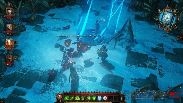 Um die Weiße Hexe aus ihrem Kristallgefängnis befreien zu können, benötigt ihr Suas Hilfe.