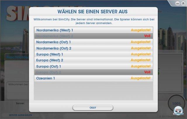 Bild der �berf�llten Server (erstellt am Donnerstag, 7. M�rz 2013, 22:57:26 Uhr)