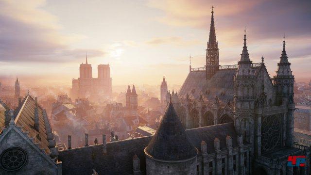 """Die Kulisse des ersten echten """"Next-Gen""""-Assassins-Creed ist serientypisch eine Augenweide."""
