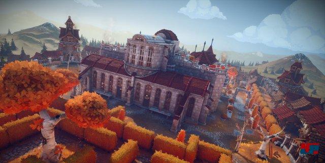 Eins zwei, drei vier Eckstein: Trotz Einsatz der Unreal Engine sind hier leider nicht nur die Steine eckig. Manche Designentscheidungen wie grobe Minecraft-Pixel wurden aber vermutlich absichtlich getroffen.