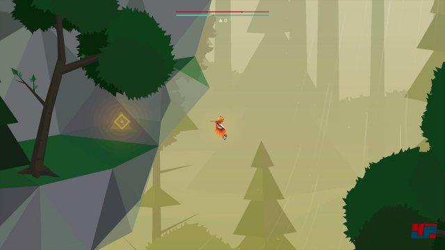 Wenn man den unteren Durchgang vom Deep-Forest-Level in den Swamp-Level nimmt, kann man kurz nach dem Eintritt nach oben fliegen und in der linken Felswand eine versteckte Höhle mit der gesuchten Rune entdecken.