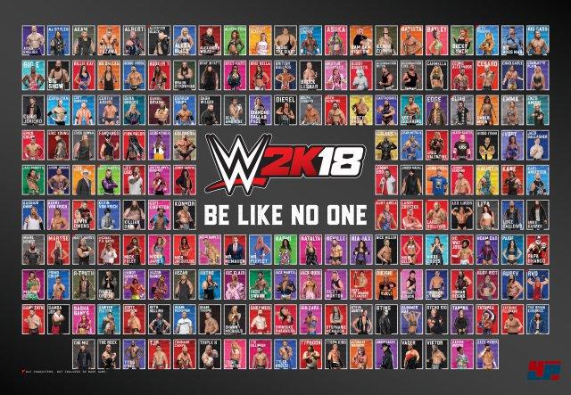 In einer Hinsicht ist WWE 2K18 absolute Spitze: Noch nie konnte man so viele Superstars, Legenden und Diven spielen.
