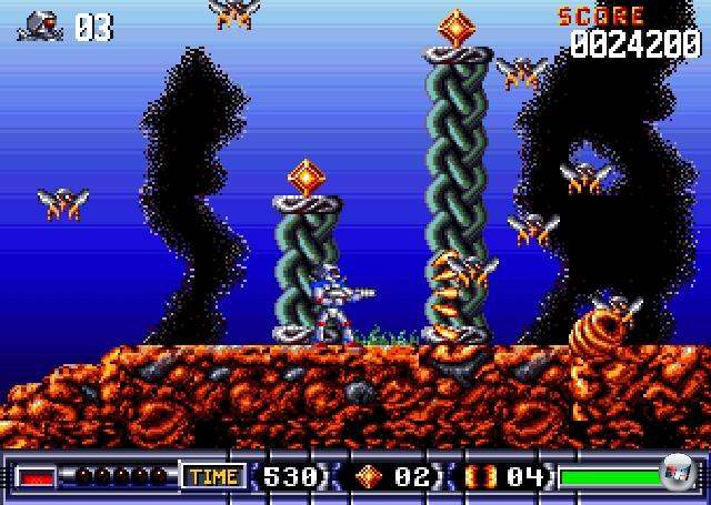 <b>Turrican</b><br><br>Lieber Manfred Trenz: In letzter Zeit wurden viele klassische Jump�n�Run -Serien intelligent wiederbelebt. Ich denke da an Bionic Commando Rearmed, Ultimate Ghosts�n Goblins, Contra 4 oder Mega Man 9. Turrican ist eine klassische Jump�n�Run-Serie. Sehr klassisch. Ich stelle einfach nur interessante Fakten in den Raum, sonst nichts. Mal zum Dr�ber-Nachdenken oder so.