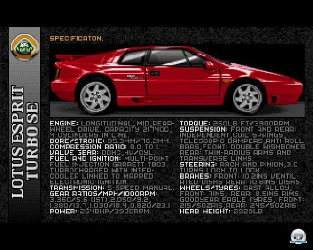 Screenshot - Lotus Esprit Turbo Challenge (PC)