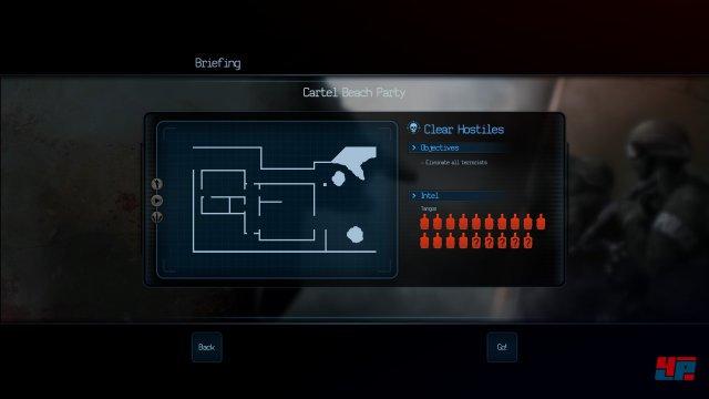 Die Missionsbriefings sind  spartanisch und vermitteln keine Hintergrundinfos.