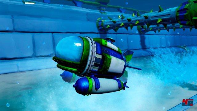 Mit dem Dive Bomber geht es auch unter die Wasseroberfl�che.