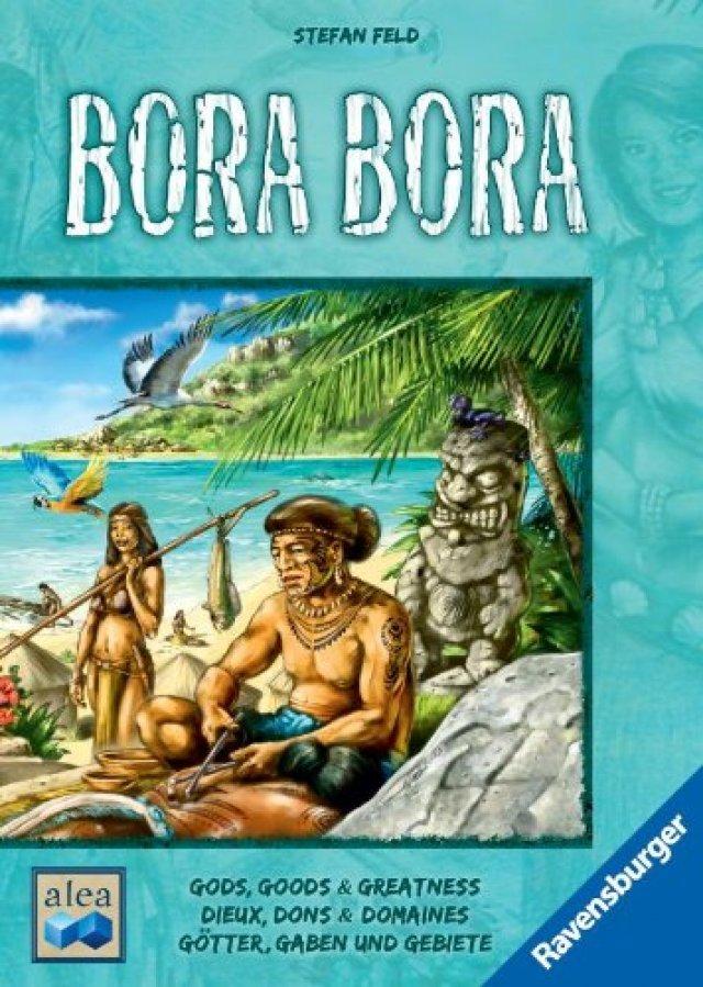 Bora Bora ist ein Brettspiel f�r zwei bis vier Personen und f�r knapp 40 Euro auf Deutsch bei Ravensburger erschienen.