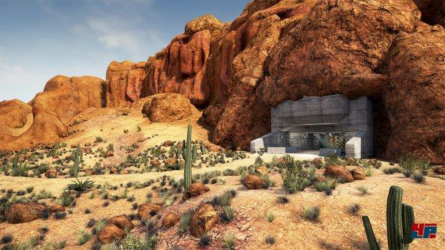 Unterm Wüstensand gehen geheimnisvolle Experimente vor sich.