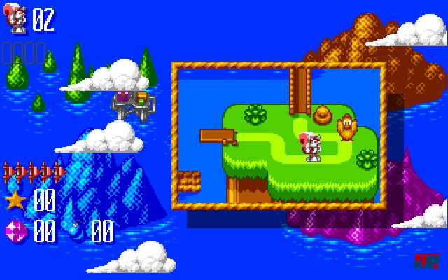 Die Oberwelt und ihre Abenteuer gibt es nur auf dem Amiga.