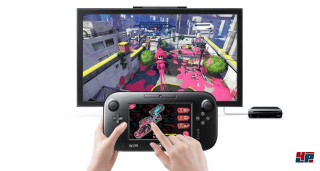 Der Touchscreen auf dem GamePad zeigt nicht nur eine Übersicht zur aktuellen Farbverteilung, sondern ermöglicht auch das Katapultieren zu Mitstreitern.