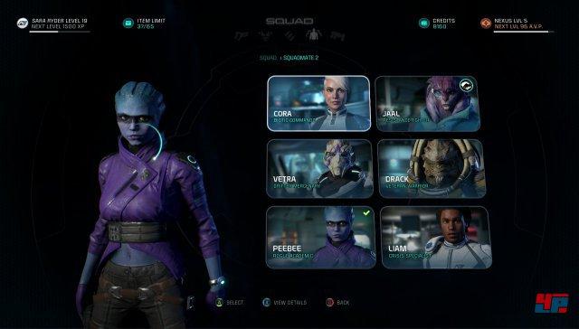 Bei den sechs möglichen Begleitern findet sich nur eine neue Alien-Rasse. Und der Rest ähnelt Figuren aus der Ur-Trilogie.