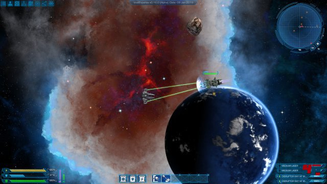 Der isometrische Weltraum wird von der Unity-Engine in Szene gesetzt.