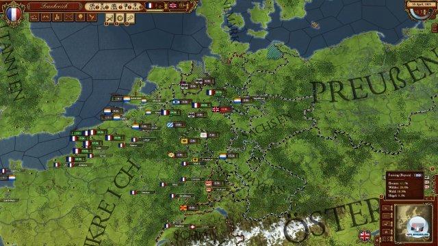 Auf Seiten der Franzosen ist das Spiel recht einfach: Man befehligt die st�rkste Landarmee Europas.