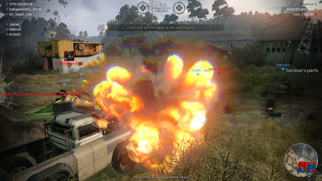 Nicht hübsch aber häufig: Die Explosionen wirken ziemlich billig. Das modulare Zerstörungssystem macht das aber wieder mehr als wett!
