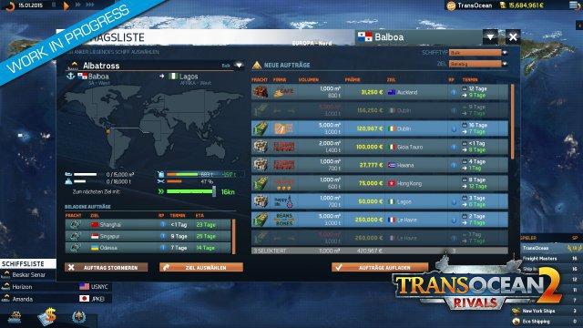 Wie beim Vorgänger kann ein Schiff mehrere Aufträge in Angriff nehmen.