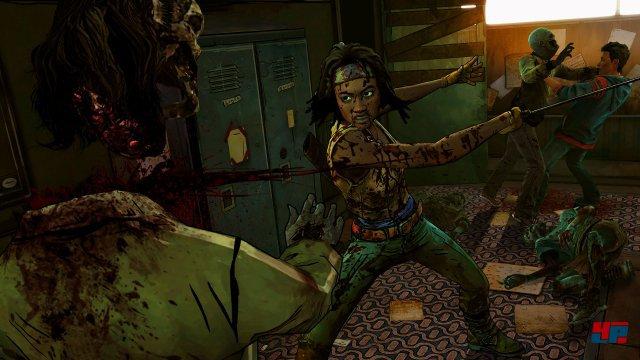 Zombies haben bei Michonne und ihrer scharfen Klinge nichts zu lachen.