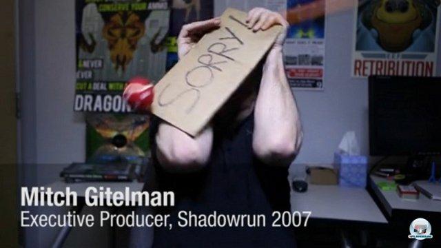 <b>Shadowrun Returns</b> <br><br> Der schönste Nebeneffekt am Kickstarter-Hype ist, dass er die Fantasie der Trailer-Produzenten beflügelt. Im Video zu Shadowrun Returns wird Mitch Geitelman zur Strafe für sein missglücktes Remake von 2007 mit Bällen und Obst beworfen. Jordan Weisman war an den alten Konsolen-Versionen beteiligt und will es besser machen - inklusive dem genretypischen Mix aus Science Fiction und Fantasy. In acht Tagen endet die schon jetzt erfolgreiche Finanzierung. 2341342