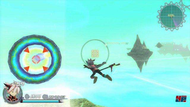 Sonic und Nights lassen gr��en: Beim Express-Flug durch Portale und Edelsteine wird Nakas Handschrift erkennbar. Auch Project-Zero-Entwickler Zin Hasegawa war beteiligt.