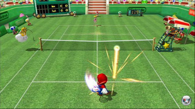 Spezialschläge und effektreiche Inszenierung: Mario Tennis steht für puren Arcade-Spaß.