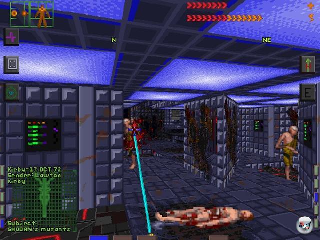 <b>System Shock</b><br><br>Nun mag man nat�rlich aus gutem Grund anf�hren, dass BioShock ja irgendwie der geistige Nachfolger von System Shock ist. Aber eben nur geistig. Die Mischung aus Sci-Fi-Shooter, Survival Horror, Adventure und der omnipr�senten Gefahr von Shodan ist bis heute unerreicht. Au�erdem gibt es viel zu wenige Games, in denen der Spieler als <i>�j�mmerliche Kreatur aus Fleisch und Knochen�</i> bezeichnet wird.