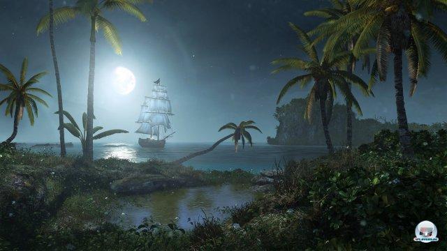 Pure Piratenidylle: Selbst die hoch gesteckten Grafik-Ansprüche werden von Assassin's Creed 4 übertroffen.