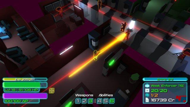 Die neonfarbene Science-Fiction lebt von ihrem Design und dem pulsierenden Soundtrack.