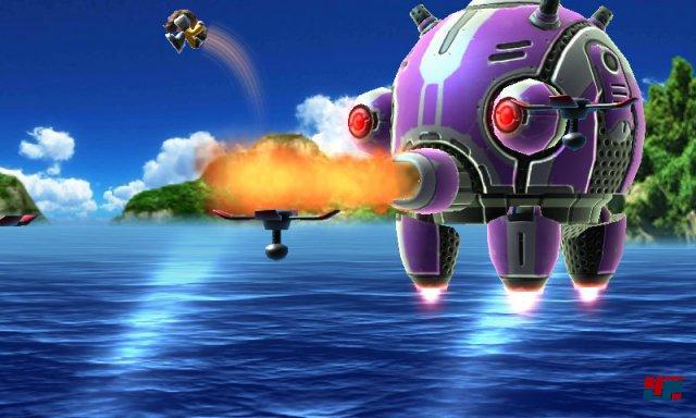 """Ab und zu steht ein kniffliger Bosskampf wie gegen den Robo-Tintenfisch """"Herzog Nokogiri"""" auf dem Programm."""
