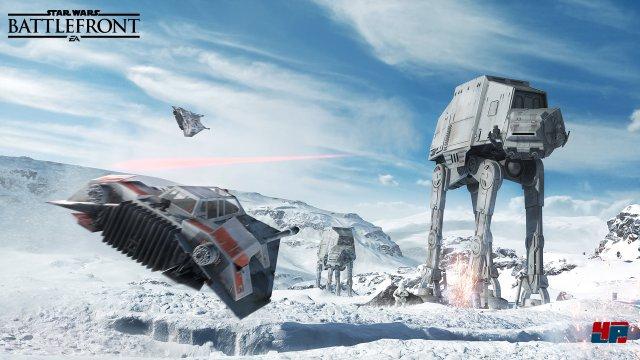 Die Schlacht um den Eisplaneten Hoth ist ähnlich imposant wie im Filmklassiker.