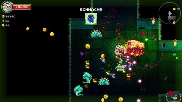 Die zufällig generierten Abschnitte mit ihren ebenfalls zufälligen Gegnerwellen fordern Hellmut und dem Spieler alles ab.