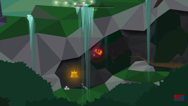 Für die M-Rune muss man sich in den unteren Bereich des Deep-Forest-Levels begeben. Zwischen den beiden Teichen gibt es einen versteckten Höhleineingang, an dessen Ende man die Rune findet.