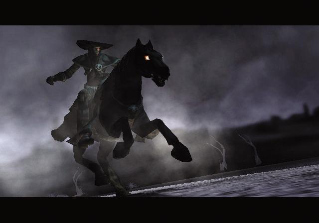 Darkwatch (2005)<br><br>Schon wieder Ego, schon wieder Shooter, schon wieder tausend Tote. Oder vielmehr: Untote. Denn Darkwatch leistete sich einen Abstecher in fantastische Gefilde, indem es die Neue Welt mit Vampiren überflutete. Dass sich echte Cowboys trotzdem wie Zuhause fühlten, verdanken sie dabei nicht nur den packenden Schusswechseln, sondern auch einem echten Urgestein: Als Grundlage für das Titelthema diente nämlich Ennio Morricones Musik aus »Drei glorreiche Halunken«. 2092908