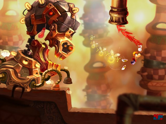 Die Fluchtsequenzen mit riesigen Bossen sind ein Highlight. Trotz der h�bschen Grafik belegt das Spiel �brigens nur rund 100 Megabyte.