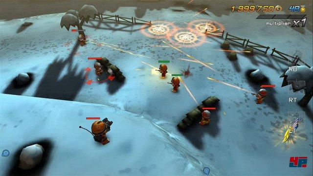 Es hat ein bisschen gedauert, bis die Tiny Troopers als Dualstick-Ballerei ihr Unwesen auf der Xbox One treiben - die Sony-Versionen erschienen Ende 2014.