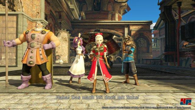 In Dragon Quest Heroes ist man mit einer Vierergruppe unterwegs. Die KI-gesteuerten Kameraden verhalten sich ordentlich.