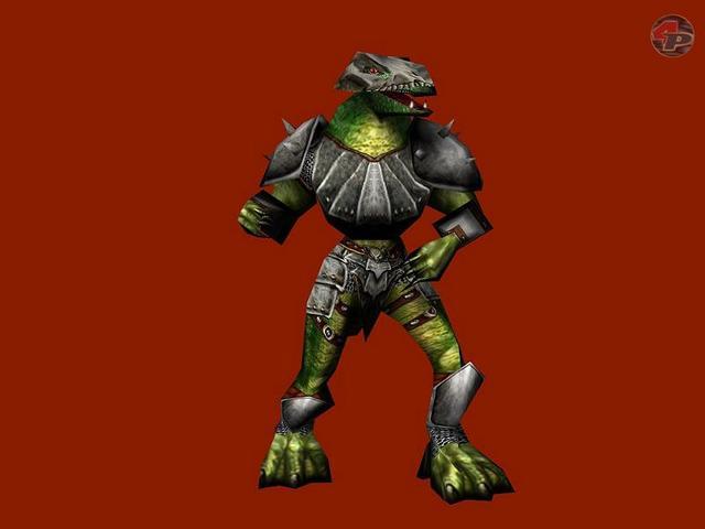 Der Lizard Orc als gerendertes Modell. 23437
