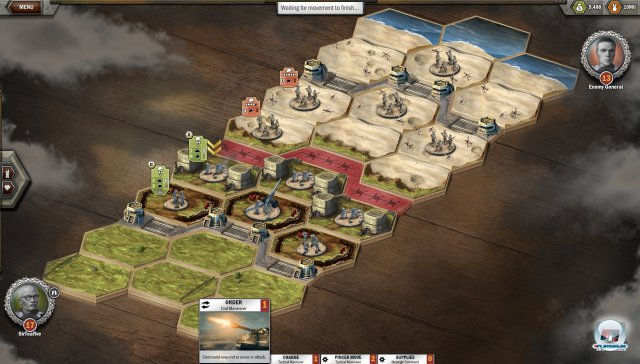 """""""Omaha Beach"""" im Miniformat bei Panzer General Online."""