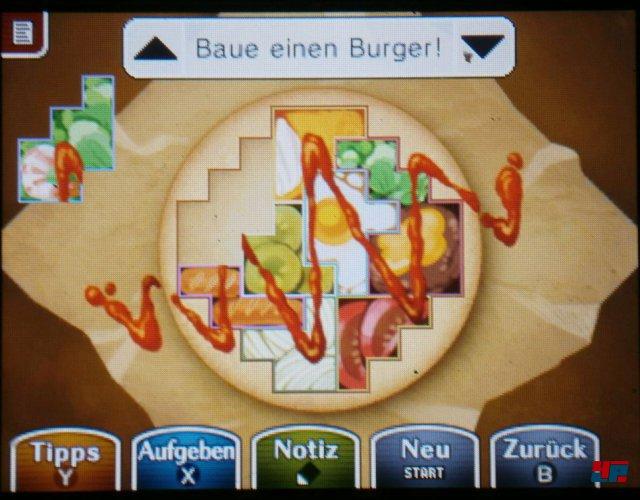 Benutzt die Ketchup-Spur zur Orientierung.