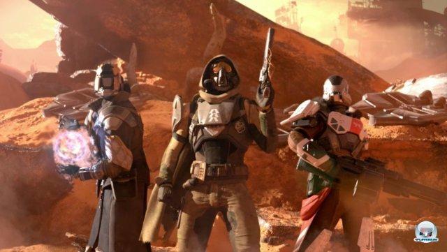 Destiny setzt seinen Fokus auf einen kooperativen Mix aus Shooter und Rollenspiel.