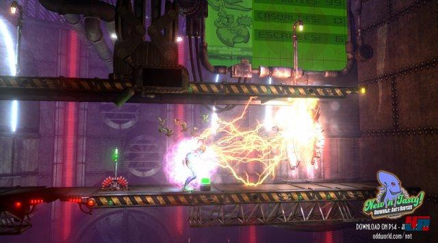 Der neue Ausflug in die Oddworld orientiert sich mechanisch am Klassiker, verpackt aber alles in eine frische Kulisse mit schicken Effekten.