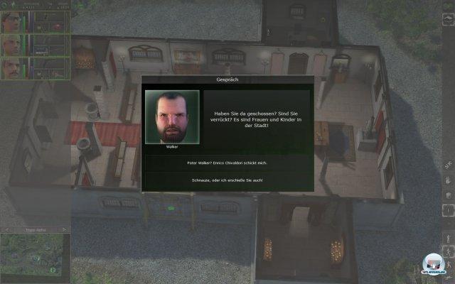 Etwaige Dialoge mit Auswahloptionen lockern den Spielverlauf etwas auf. Auch wenn die zweite M�glichkeit meistens das Gespr�ch beendet ...