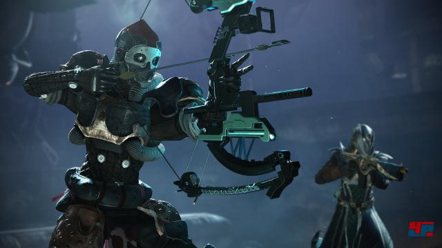 Die Armbrust macht Spaß - die neue Freiheit bei der Waffenwahl gab es auf der E3 aber noch nicht. Als Spezialwaffen standen nur Raketen- und Granatwerfer zur Verfügung.