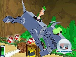 Ferb kann Robo-Vehikel reparieren und benutzen.